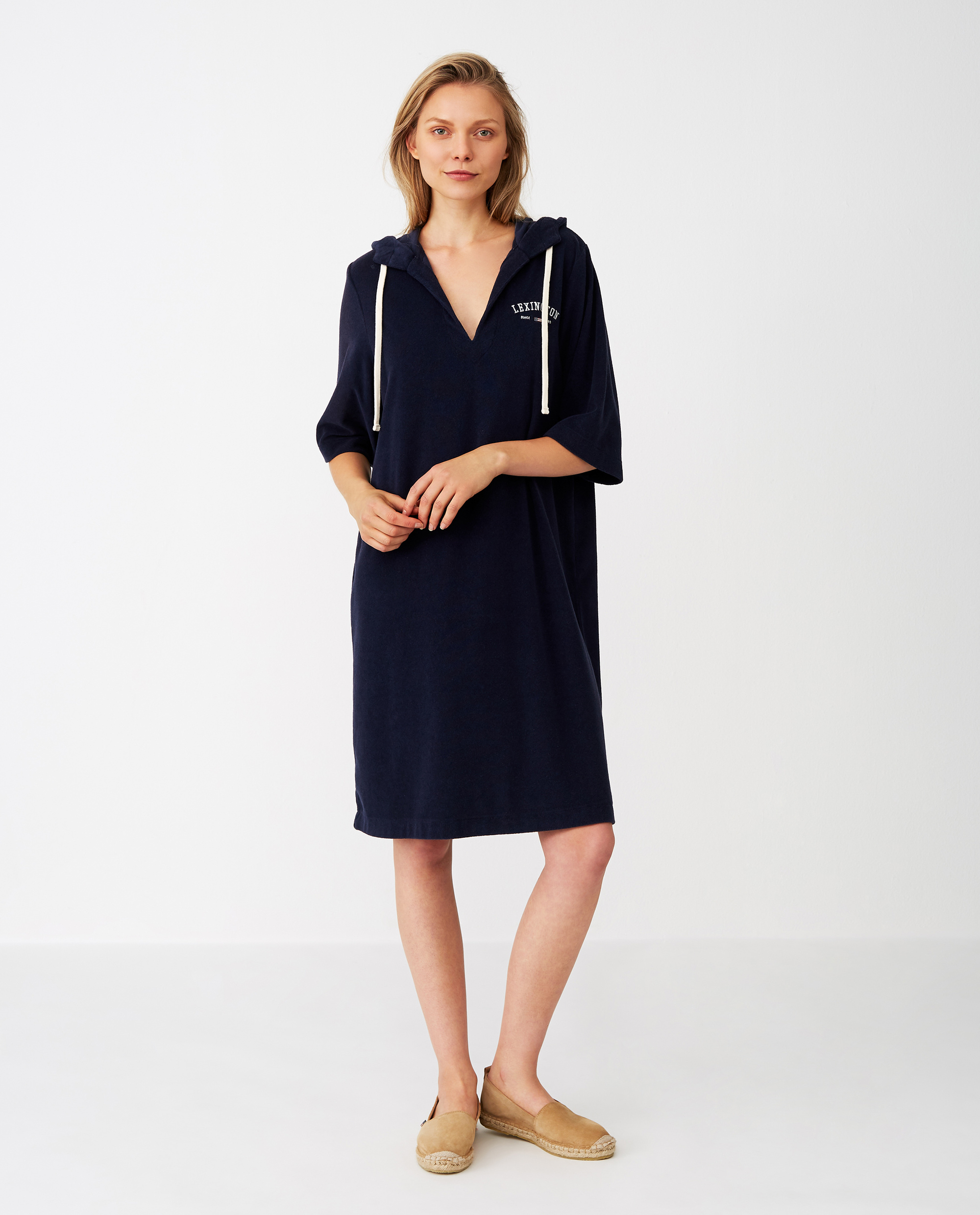 Petra Terry Dress, Dark Blue