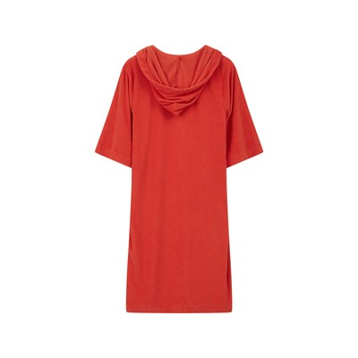 Petra Terry Dress, Red
