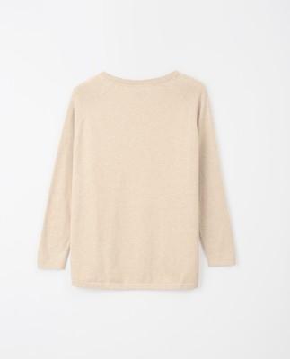 Lea Cotton/Cashmere Sweater, Beige Melange
