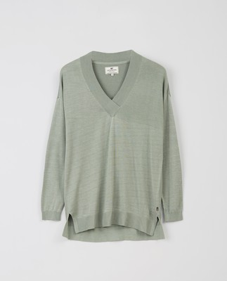 Ana V-neck Sweater, Green