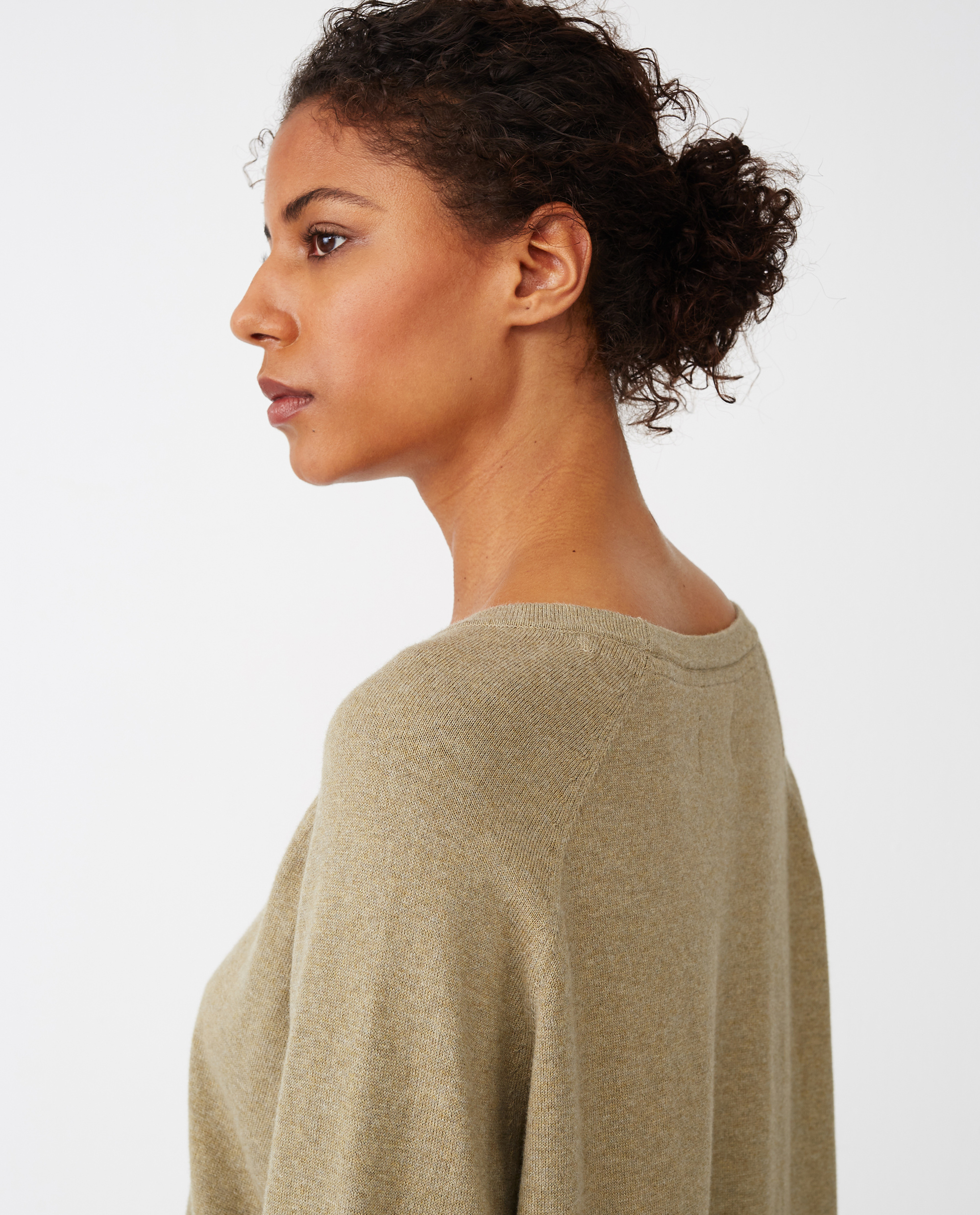 Lea Cotton/Cashmere Sweater, Green