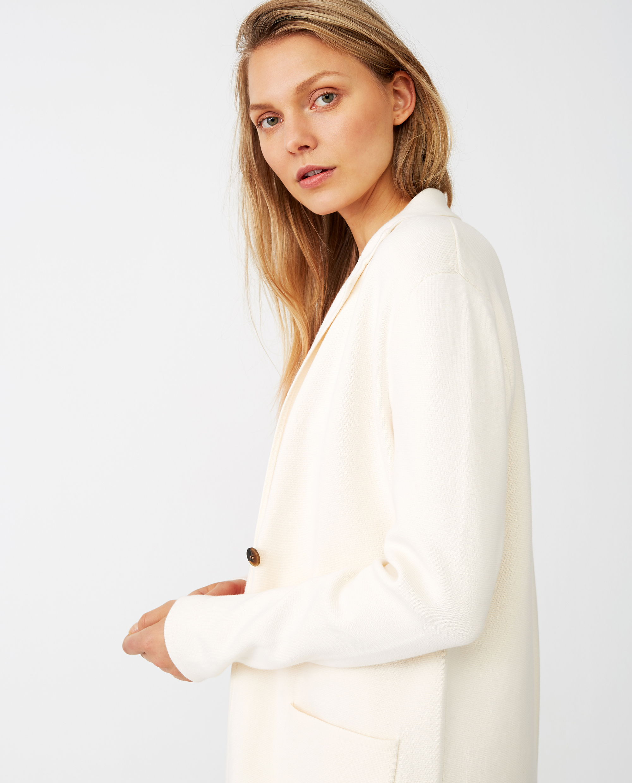 Eli Knitted Blazer, White