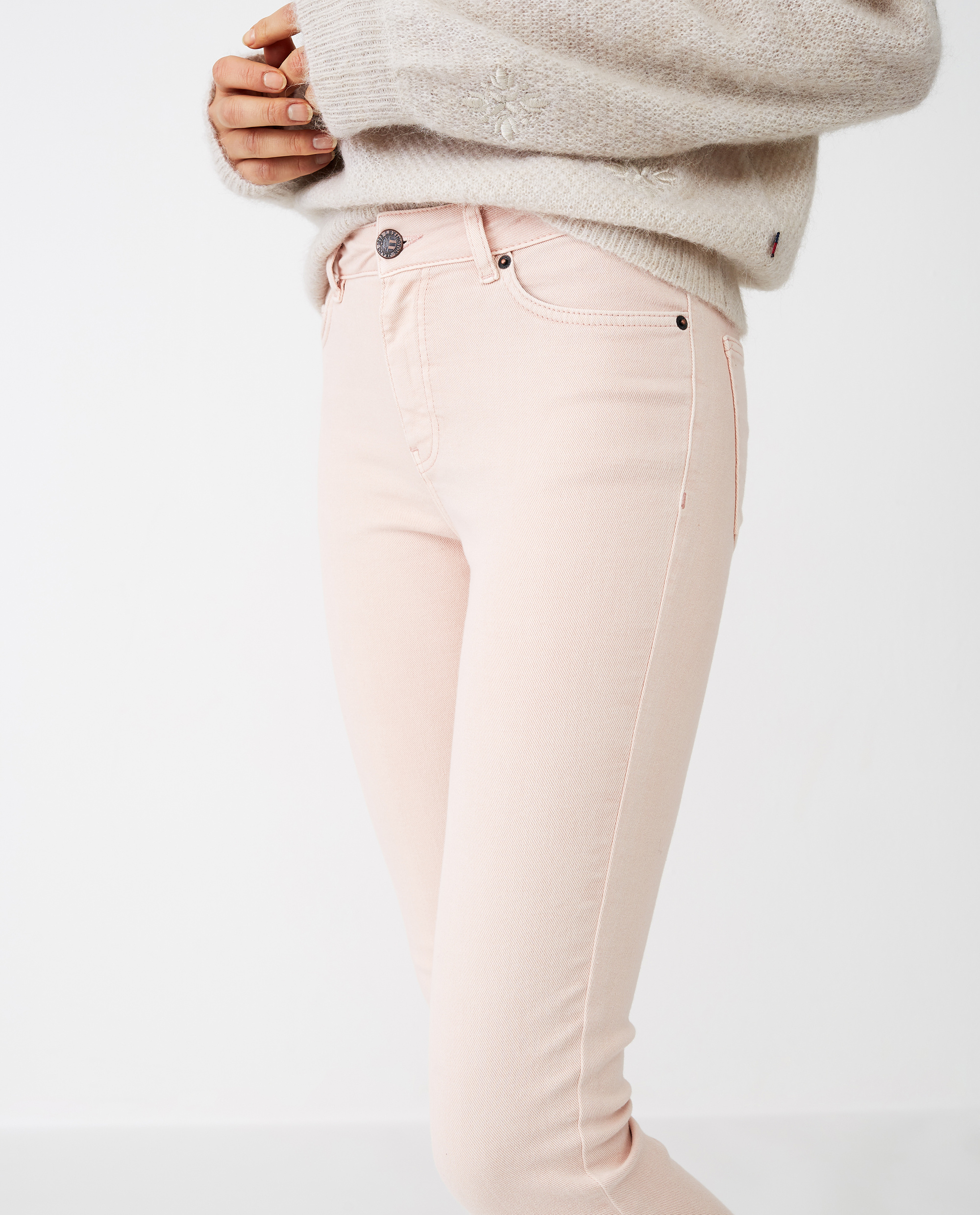 Zoe Pink Denim Pants