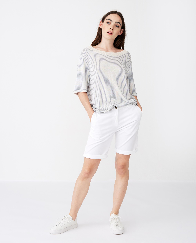 Mary Shorts, White