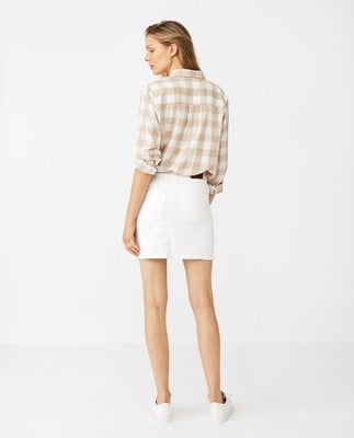 Alexa White Denim Skirt