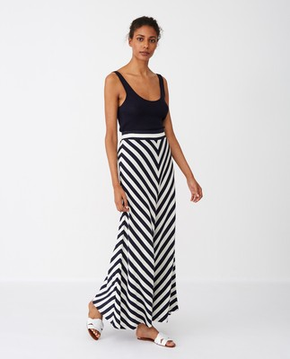 Joelle Skirt, Blue/White Stripe