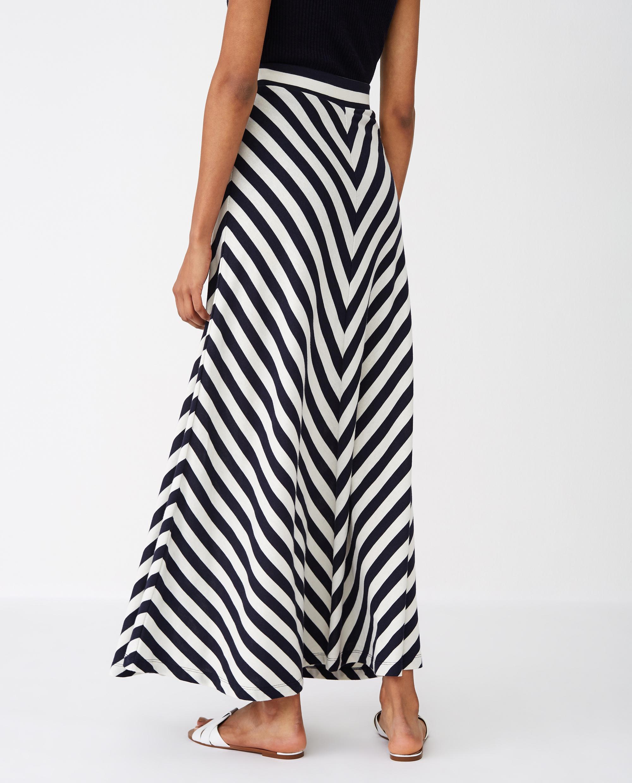 Joelle Skirt, Blue/White Stripe