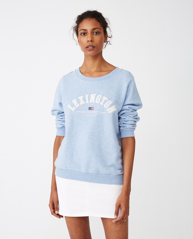 Chanice Sweatshirt, Light Blue Melange