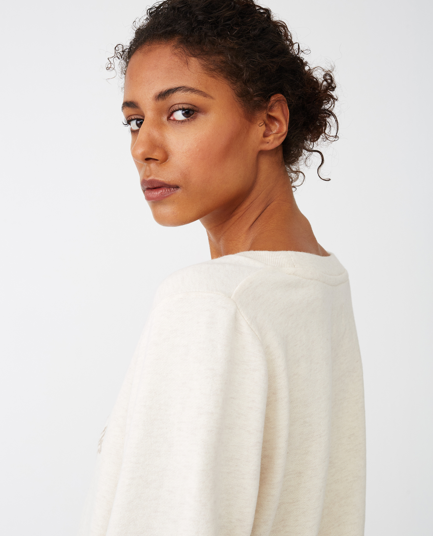 Chanice Sweatshirt, Light Beige Melange