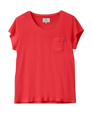 Ashley Jersey Tee, Red