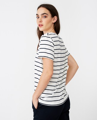 Rachel Stripe Tee, Blue/White Stripe