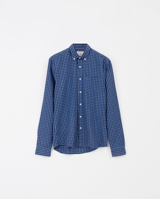 Peter Lt Flannel Shirt, Blue/White Check