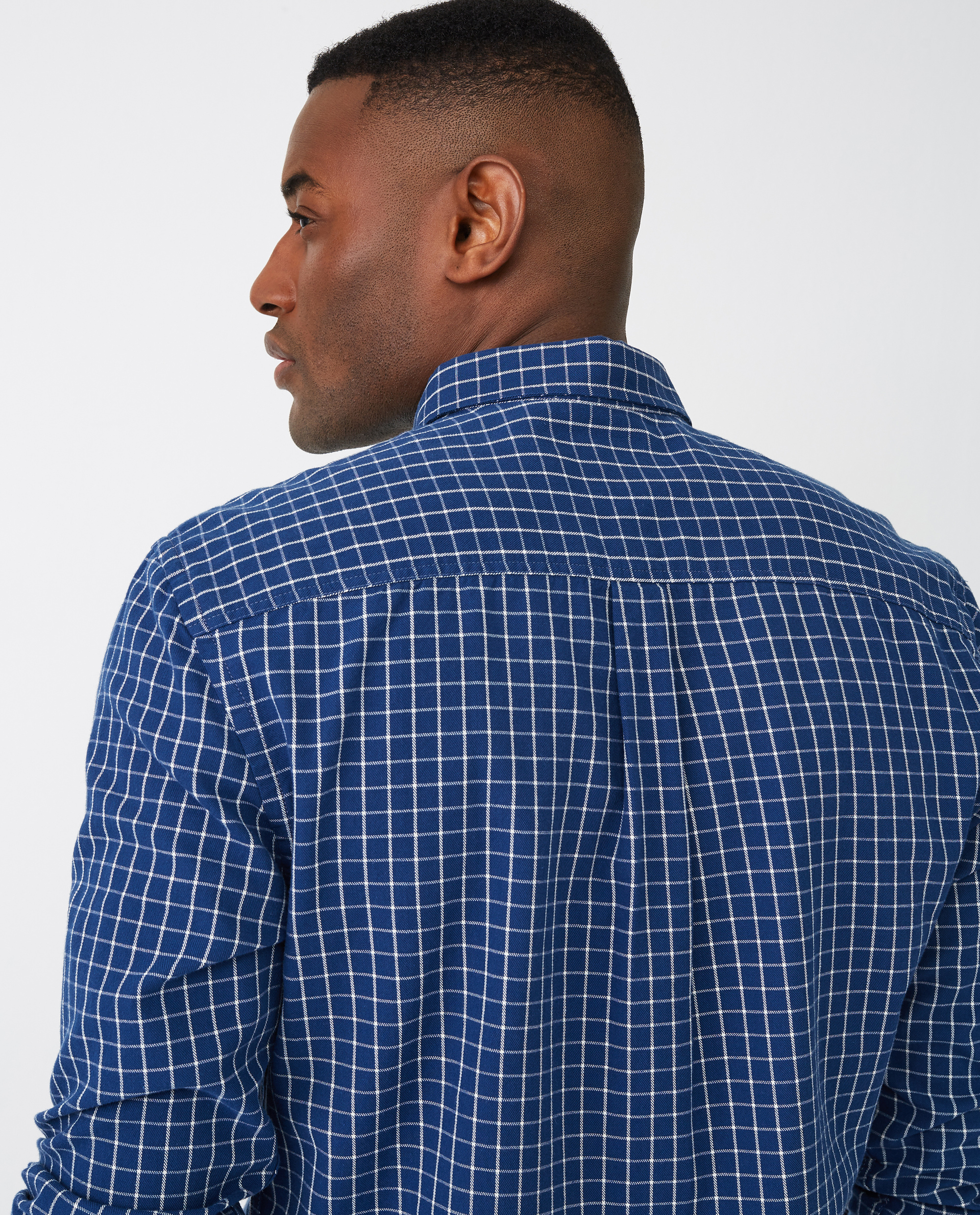 Peter Lt Flannel Shirt, Blue/White Check