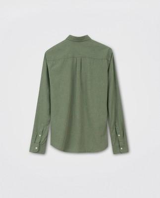 Peter Lt Flannel Shirt, Green Melange