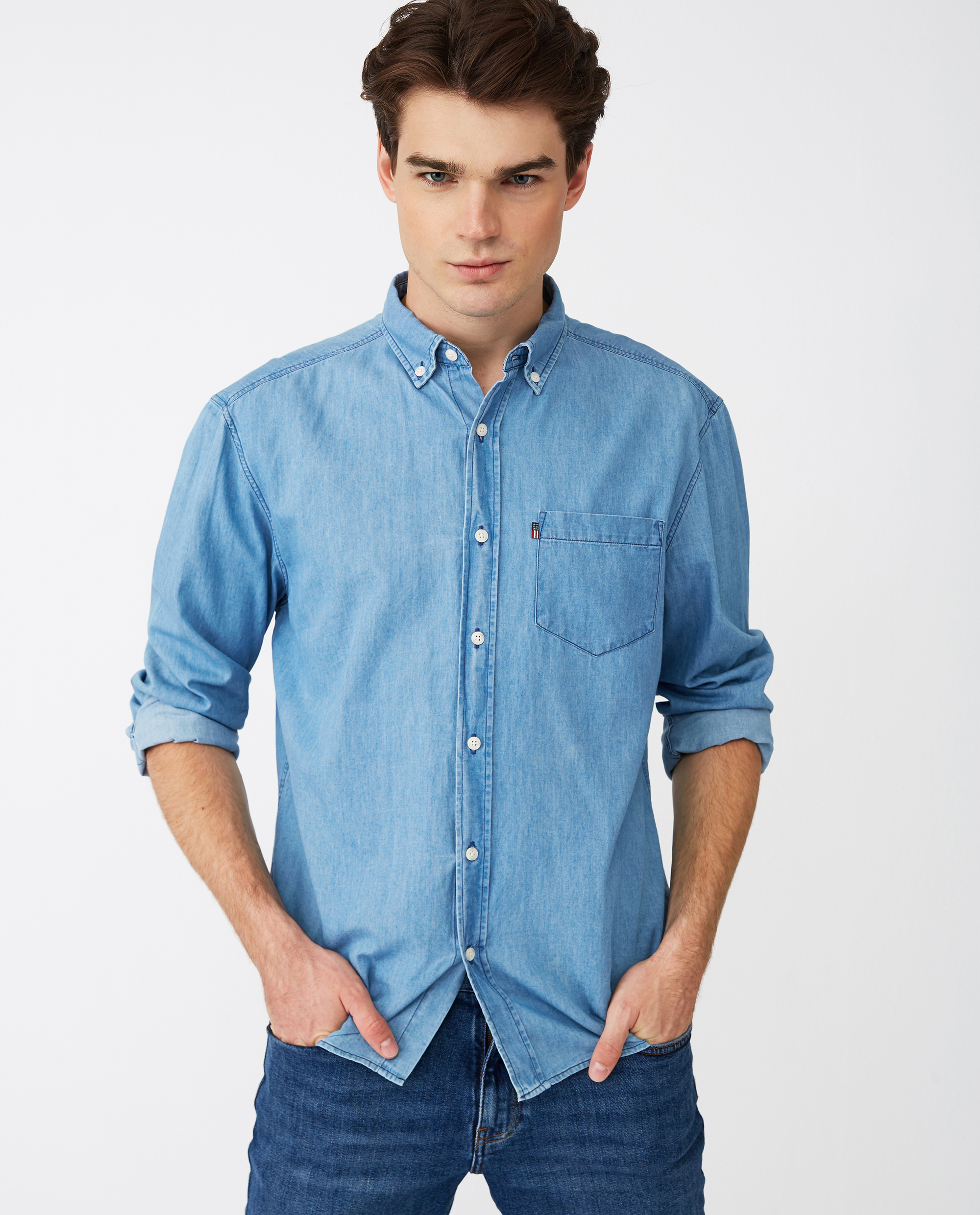Clive Shirt, Lt Blue Denim