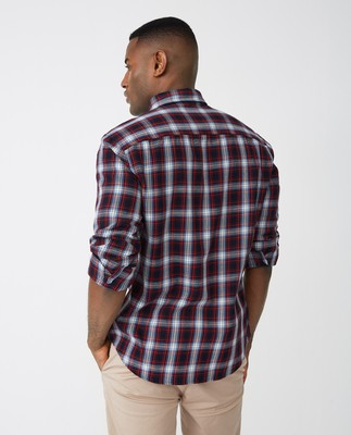 Clive Checked Shirt, Red Check Multi