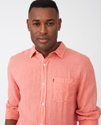 Ryan Linen Shirt, Pink