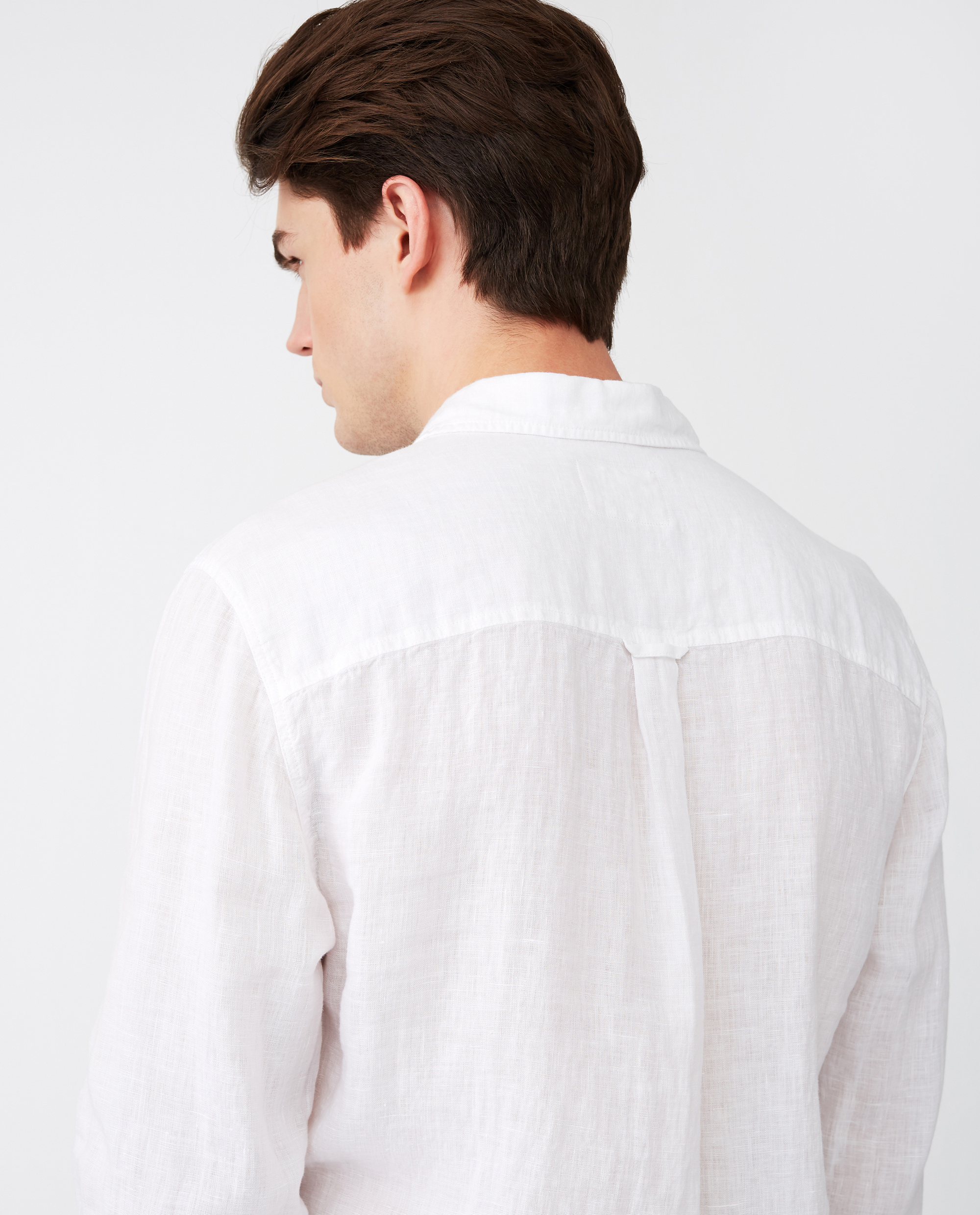 Ryan Linen Shirt, White