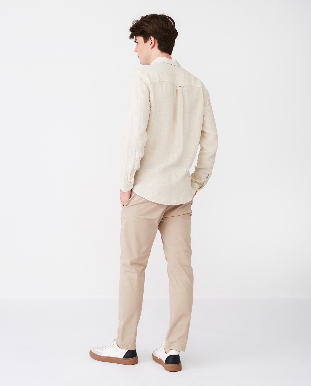 Ryan Linen Shirt, Light Beige