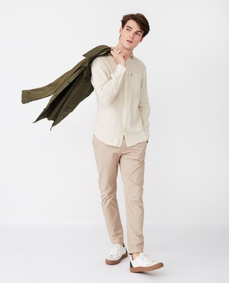 Ryan Linen Shirt, Light Beige
