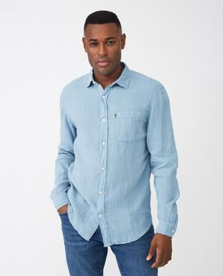 Ryan Linen Shirt, Light Blue