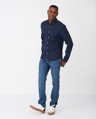 Ron Seersucker Shirt, Dark Blue