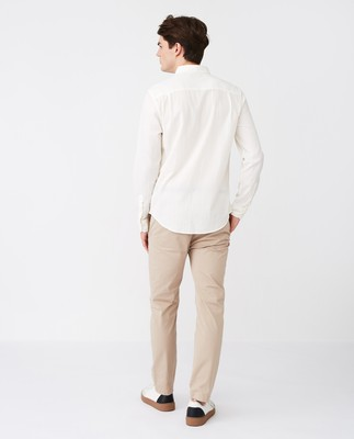 Ron Seersucker Shirt, Off White