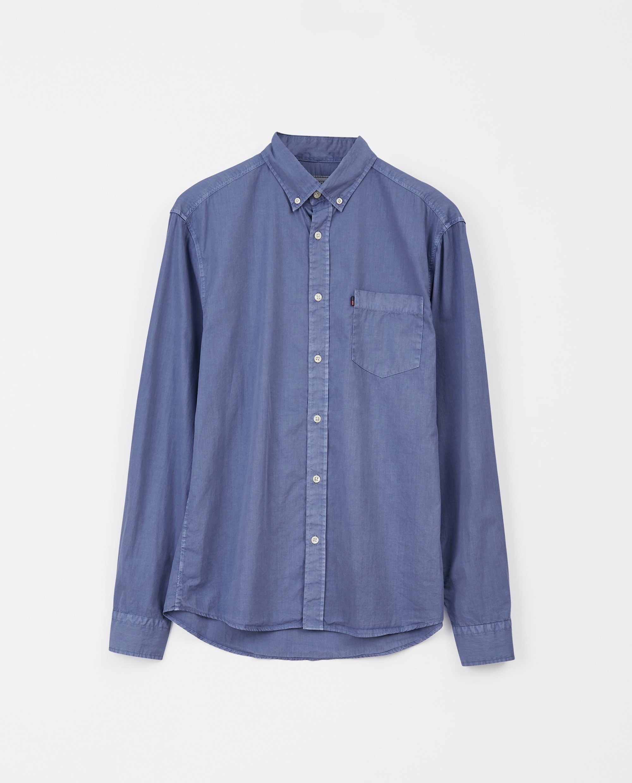 Manuel Poplin Shirt, Blue