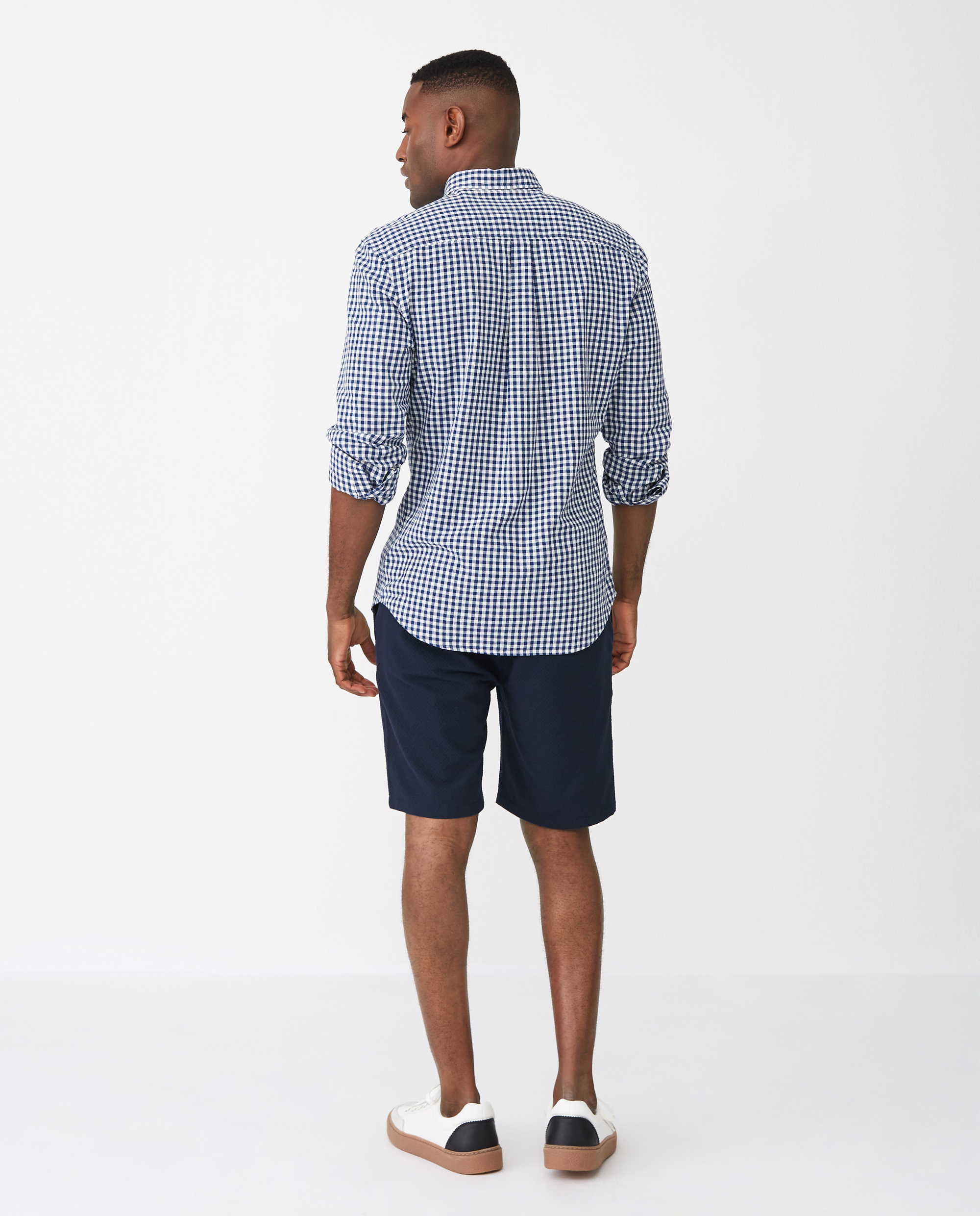 Stewart Shirt, Blue/White Check
