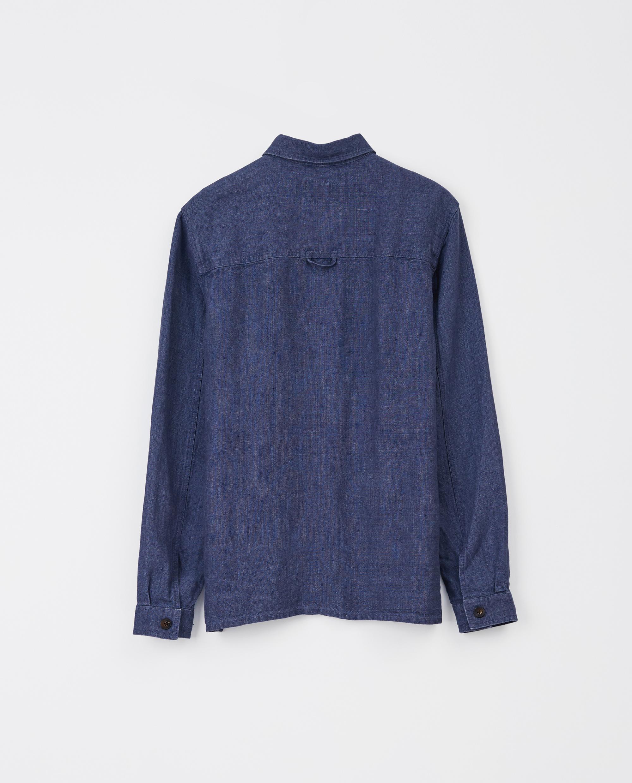 Robert Linen Overshirt, Blue