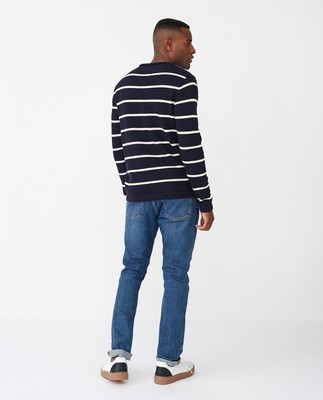 Ronald Sweater, Blue/White Stripe