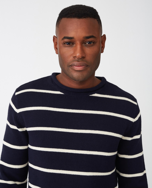Ronald Sweater, Blue/White Stripe