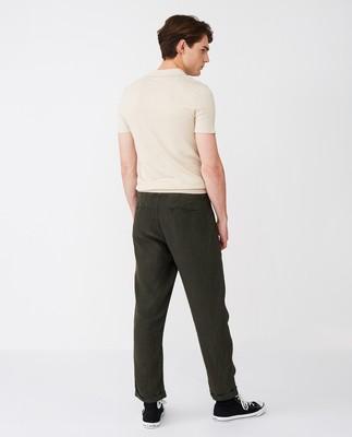 Hugh Linen Pants, Green