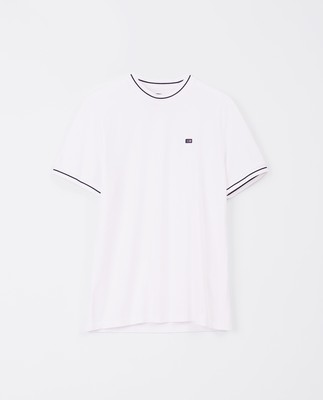 Brent Pique Tee, White