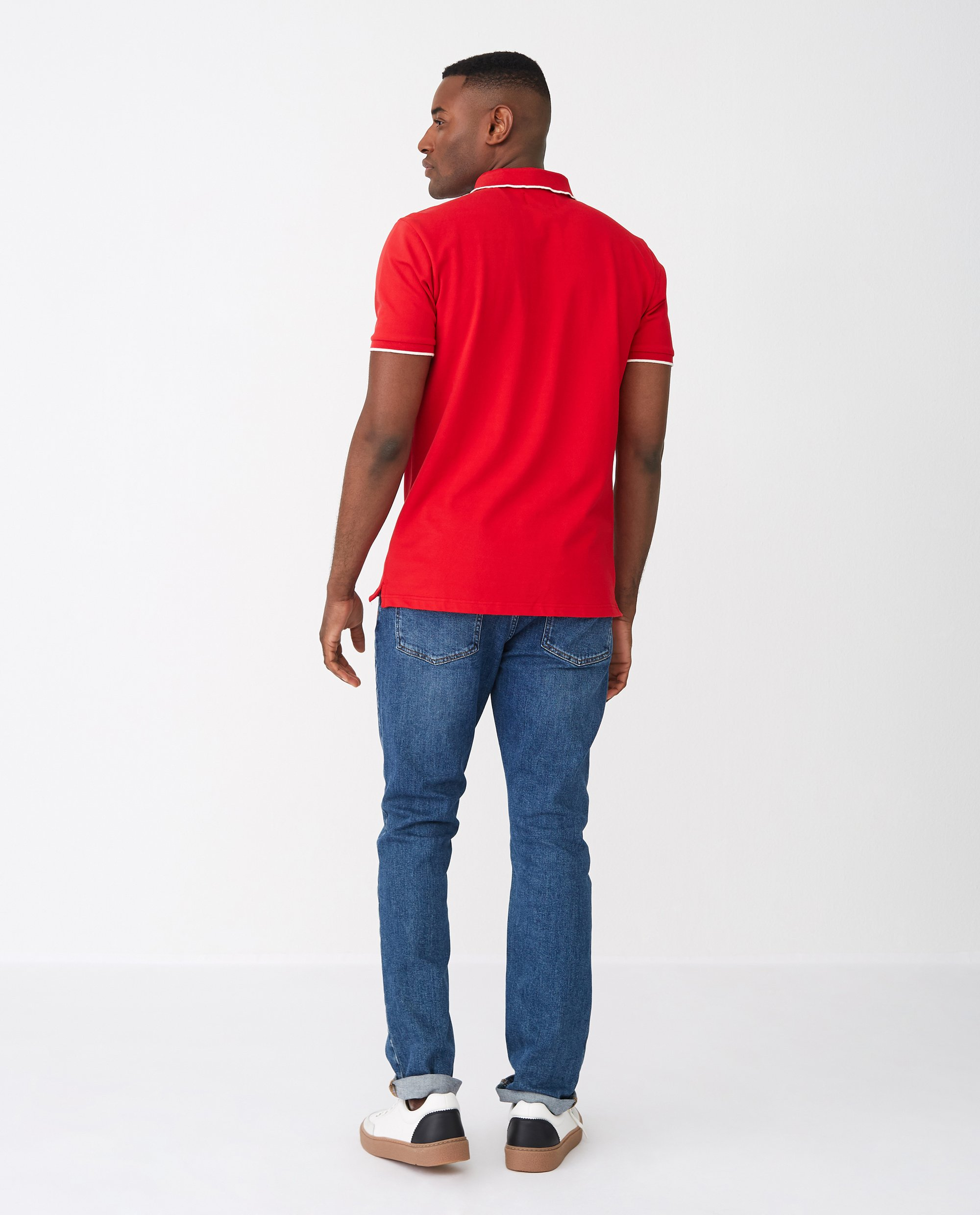 Mitch Polo Shirt, Red