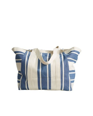 Beachway Bag, Blue/White Stripe