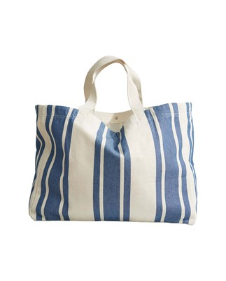 Hollyoak Shopper, Blue/White Stripe