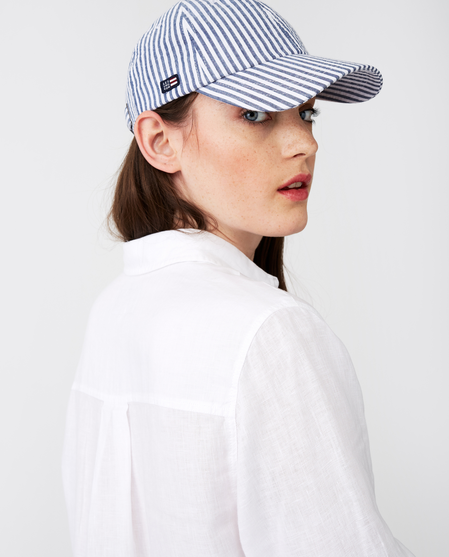 York Cap, Blue/White Stripe