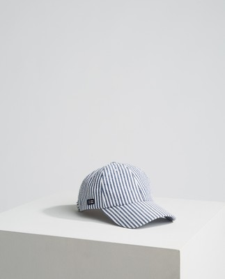 York Cap, Blue/White Stripe