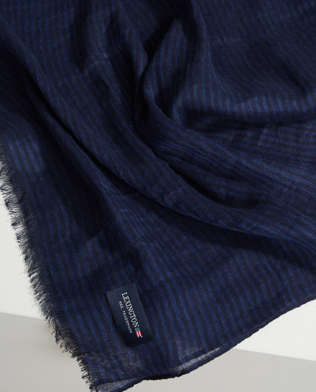 Jackson Scarf, Dark Blue/Blue Stripe