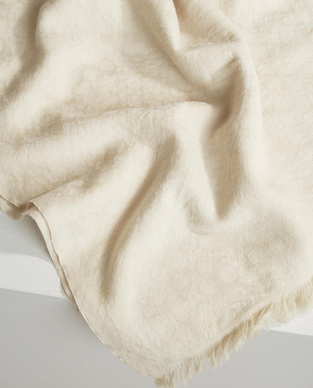 Bloom Jacquard Scarf, White Multi