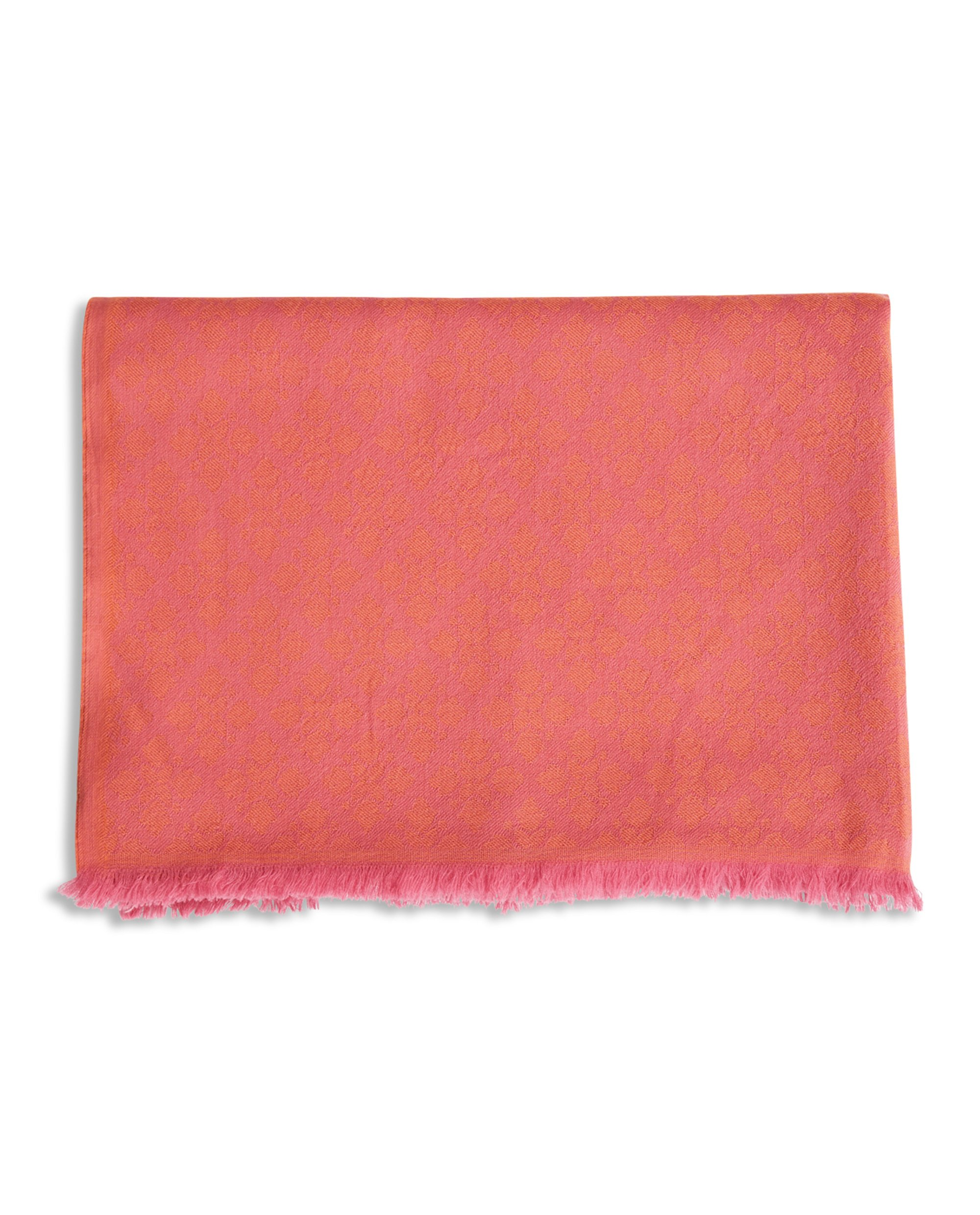Bloom Jacquard Scarf, Pink Multi