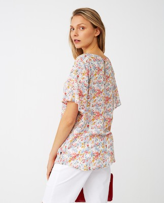 Ellis Printed Top, Meadow Print