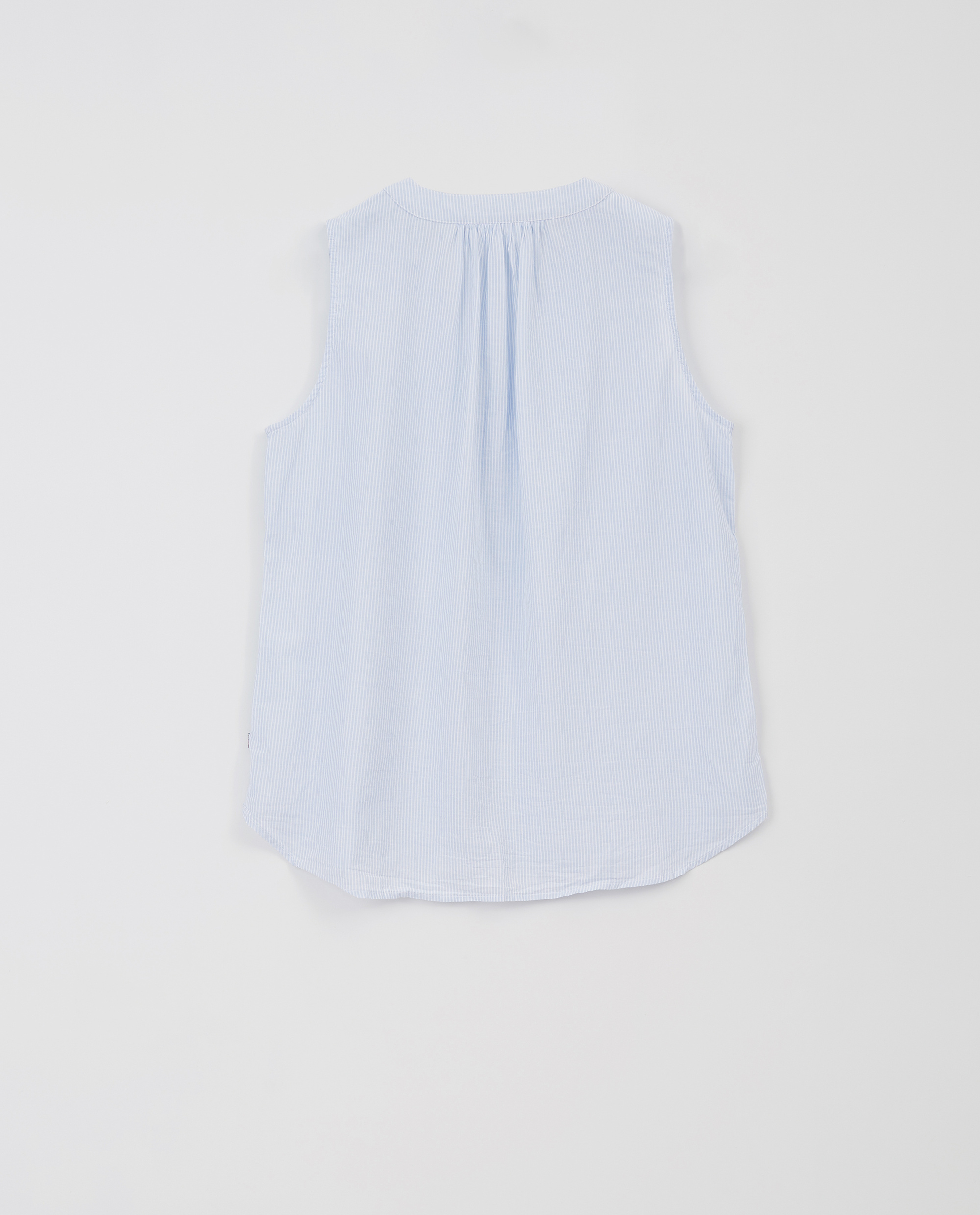Eve Top, Blue/White Stripe