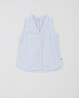 Eve Top, Blue/White Stripe