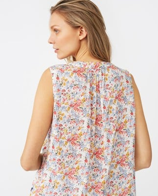 Eve Printed Top, Meadow Print