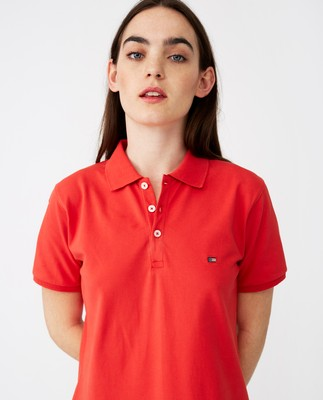 Laura Pique Polo Dress, Red