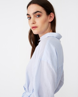 Renee Shirt Dress, Blue/White Stripe