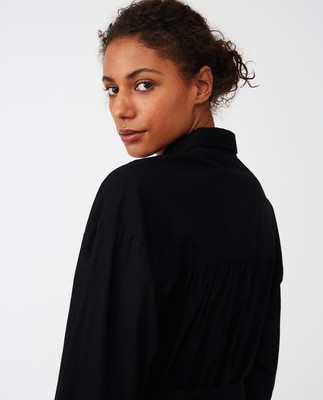 Renee Shirt Dress, Black