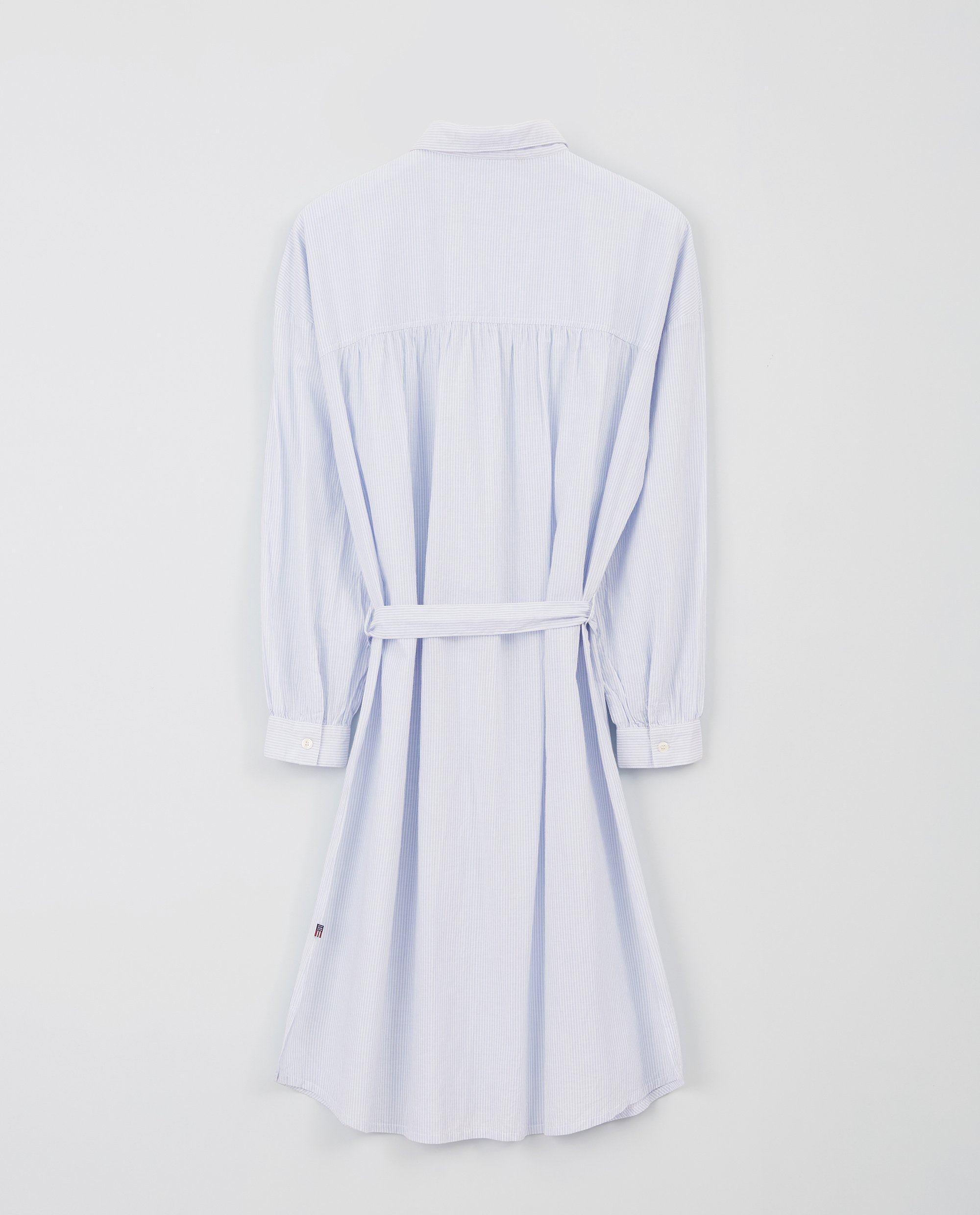 Renee Shirt Dress, Blue/White Stripe